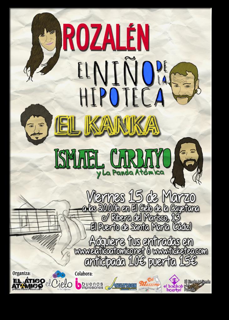 Rozalén + El Niño de la Hipoteca + El Kanka + Ismael Carbayo acompañado de La Panda Atómica